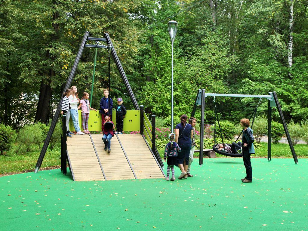 В Измайловском парке обновили детские площадки, изюминка парка