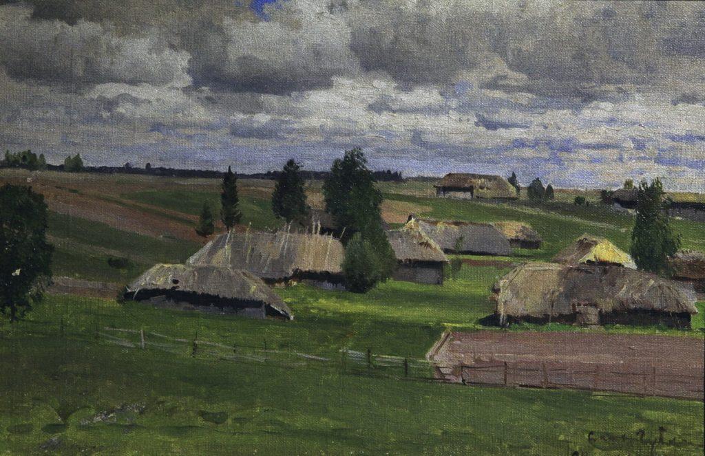 Рассвет на Волге у Царицына, 1899 г., Бенуа А.Н.