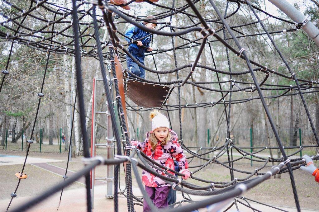 веревочный город в парке кузьминки