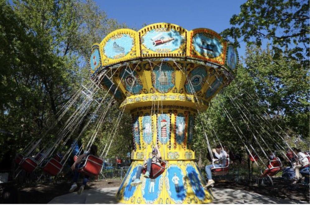 парк аттракционов карусель