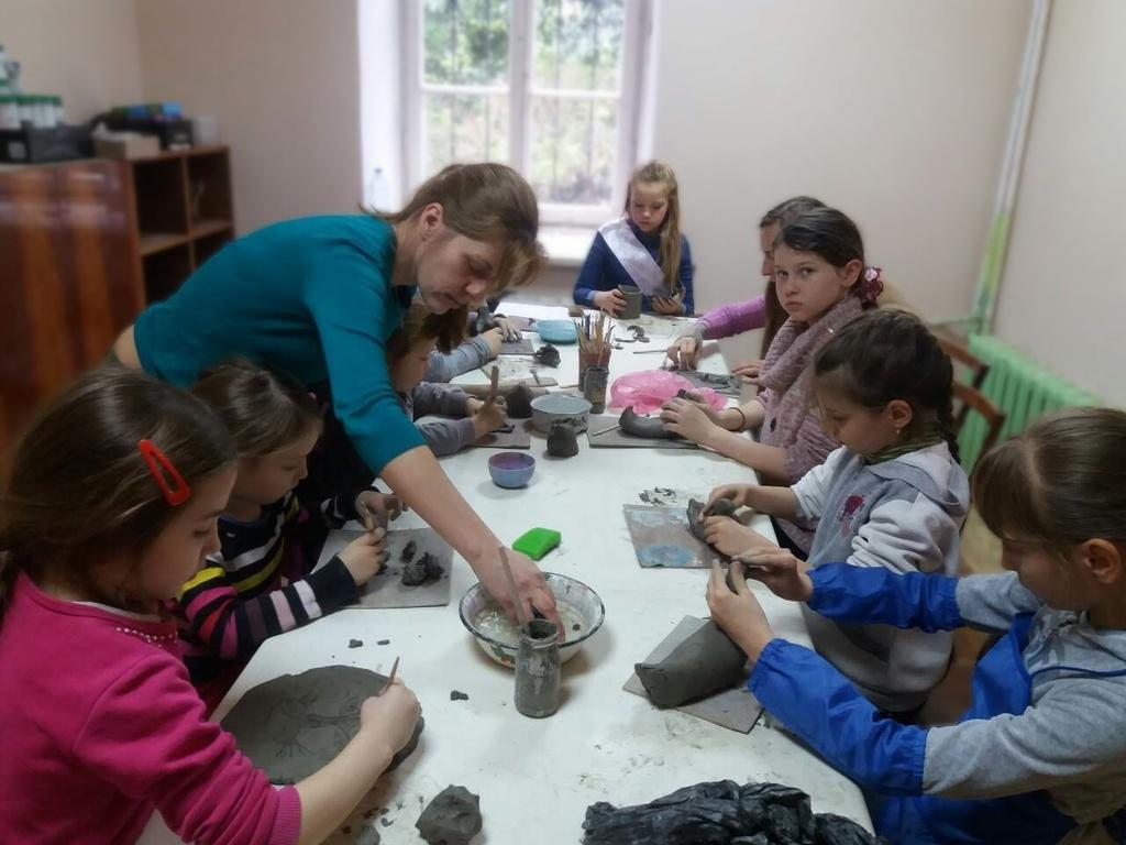 Занятие по кирамике с детими от 2 до 4 лет