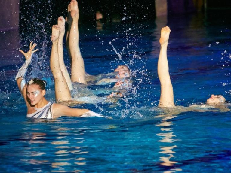 Детское шоу Елены Киселевой в воде