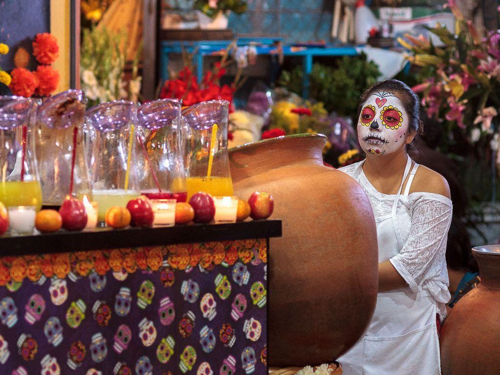 Хеллоуин в мексиканском стиле в Кидзании