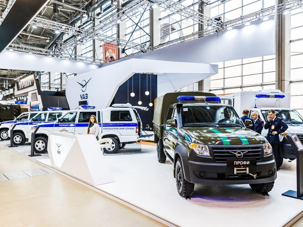 Выставка полицейской техники