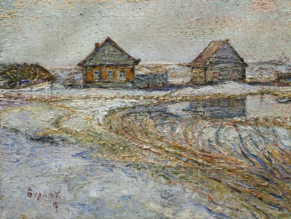 Д.Д.Бурлюк Весна в деревне