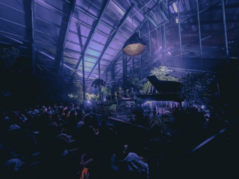 Концерт тропический шторм в Легендарная Субтропической оранжерее