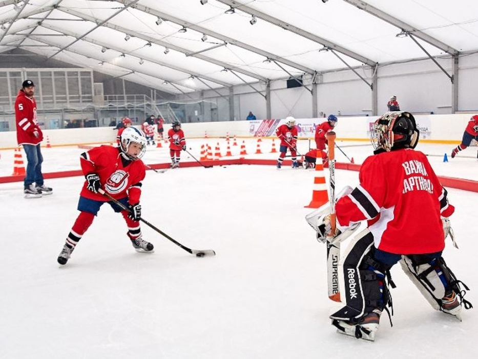 Начало разминкивратаря Хоккейная Академия Хоккейная Академия Дениса Абдуллина