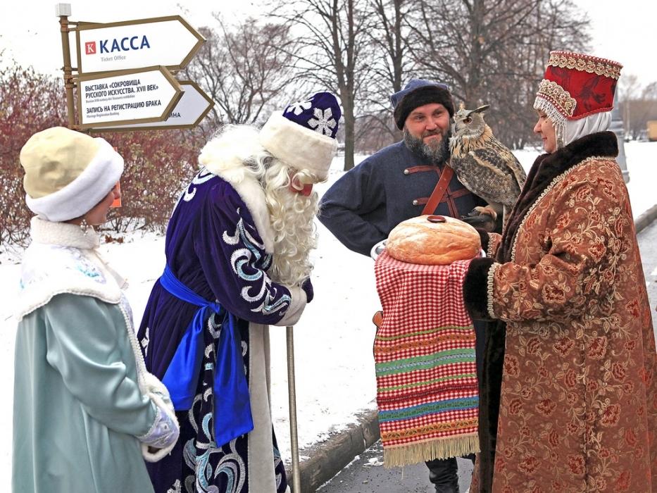 Деда Мороза встретили в Коломенском