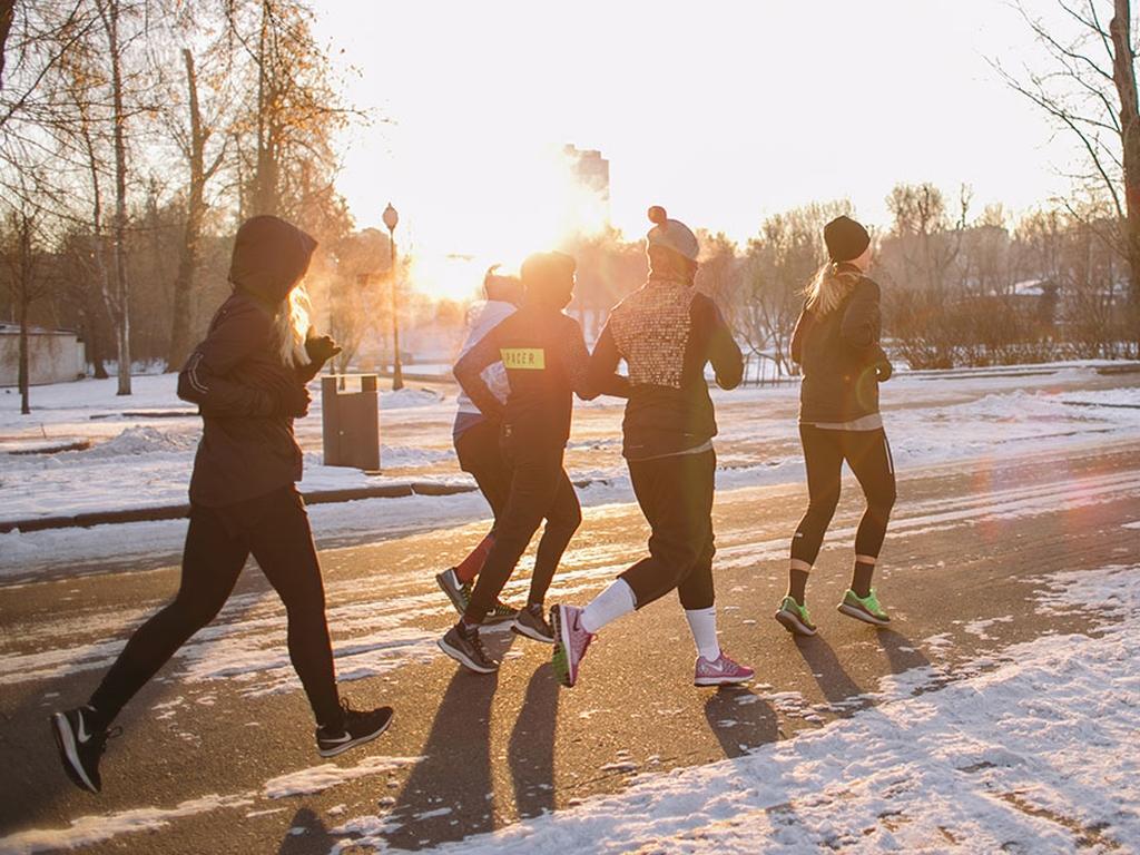Пробежка в парке Горького