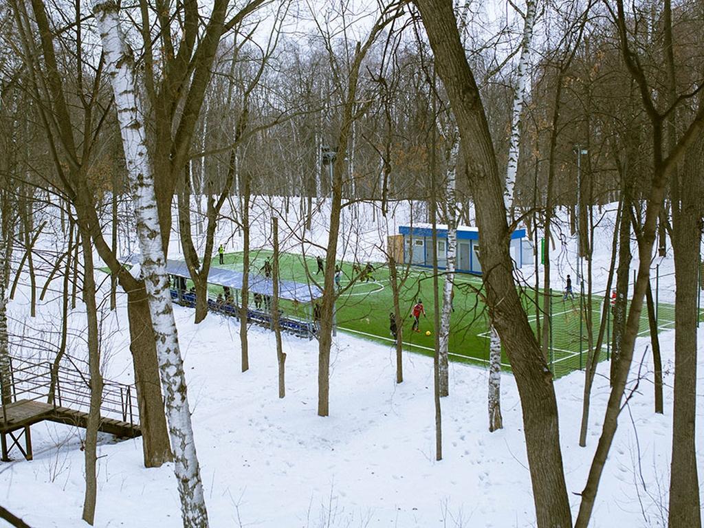 Мини - футбольное поле в нескучном саду