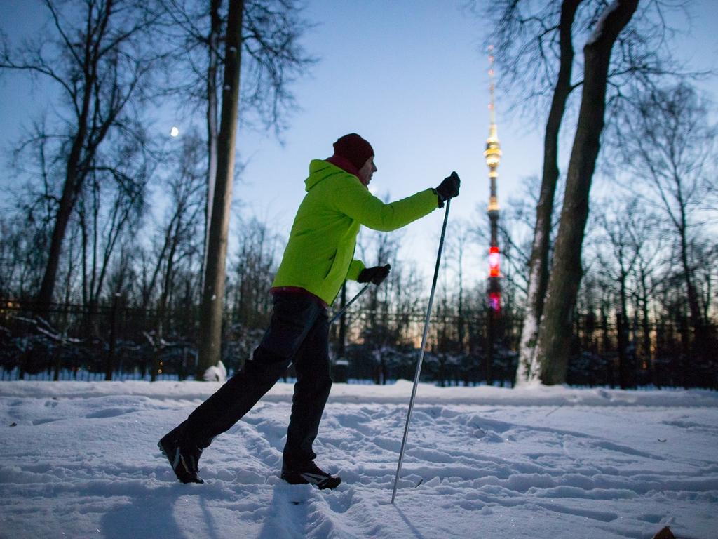 Парк Останкино Спортивная зима