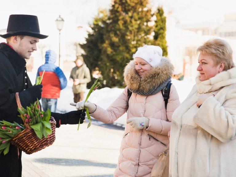 Международный женский день в саду Эрмитаж