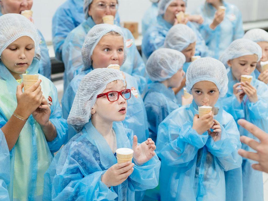Дегустация мороженого Фабрика мороженного Чистая линия
