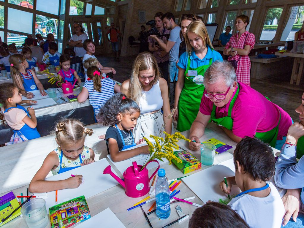 Рисование в Сады и дети на ВДНХ