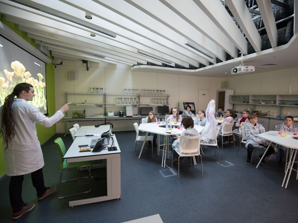 Научные программы в парке Зарядье