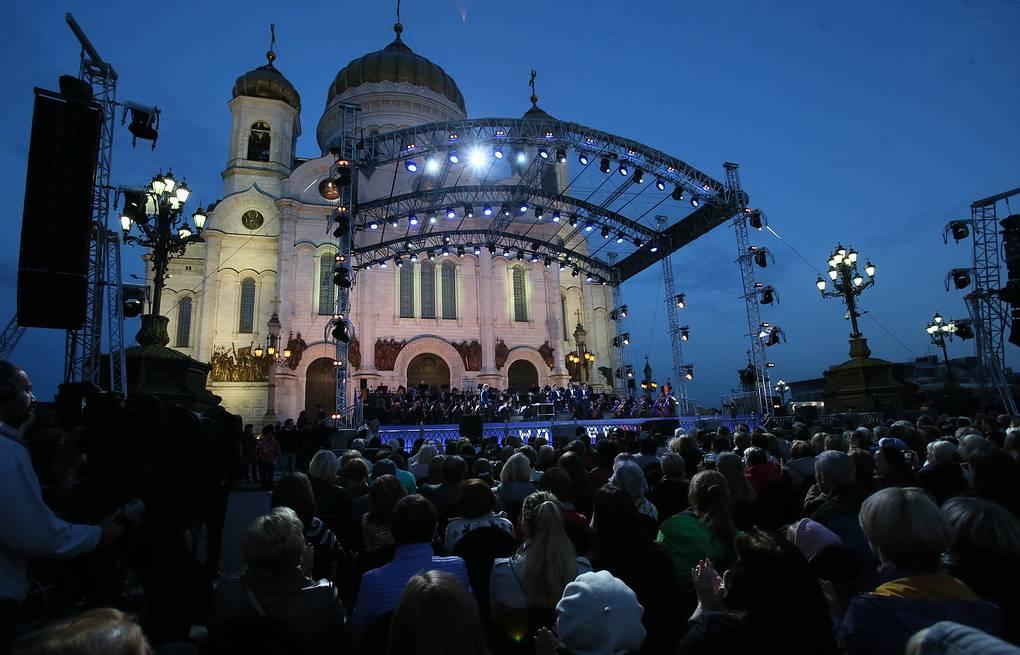 Гала концерт на день города у Храма Христа Спасителя