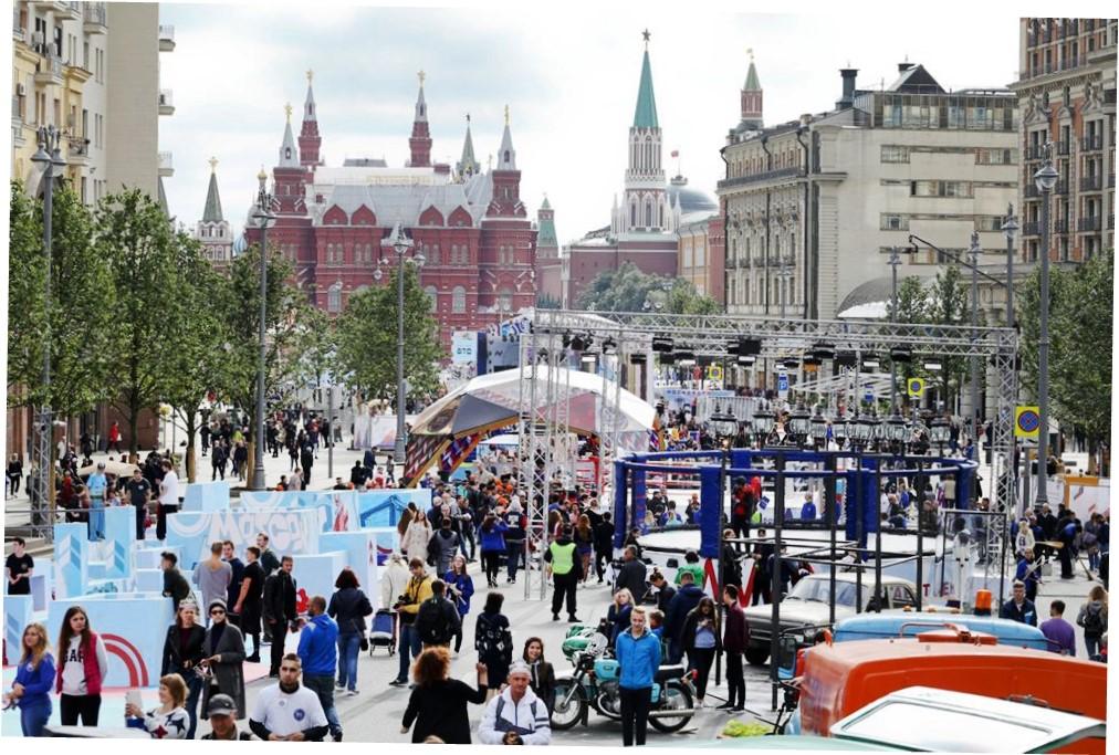 День города на улице Тверской