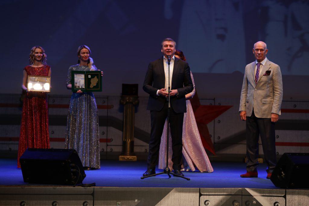 Награждение участников на фестивале Волоколамский рубеж