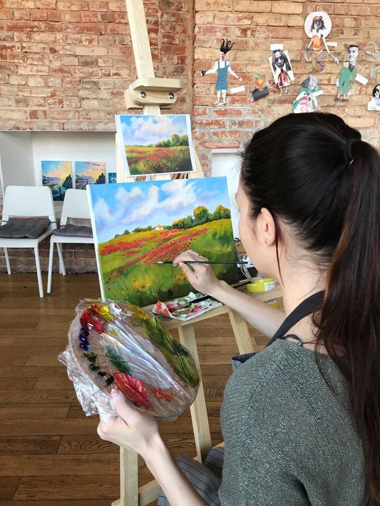 Художественные мастер-классы в студии рисования Возьми кисть