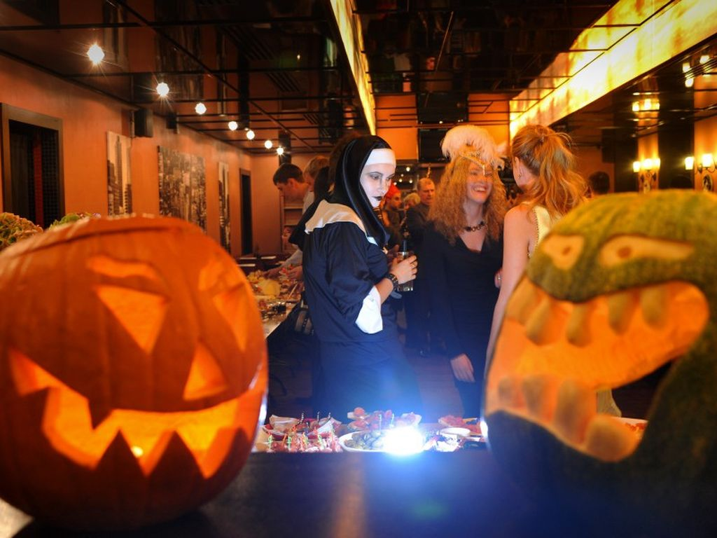 Хэллоуин в Москве с друзьями