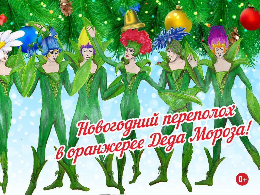 Новогодние ёлки в Москве - в тропиках Аптекарского огорода