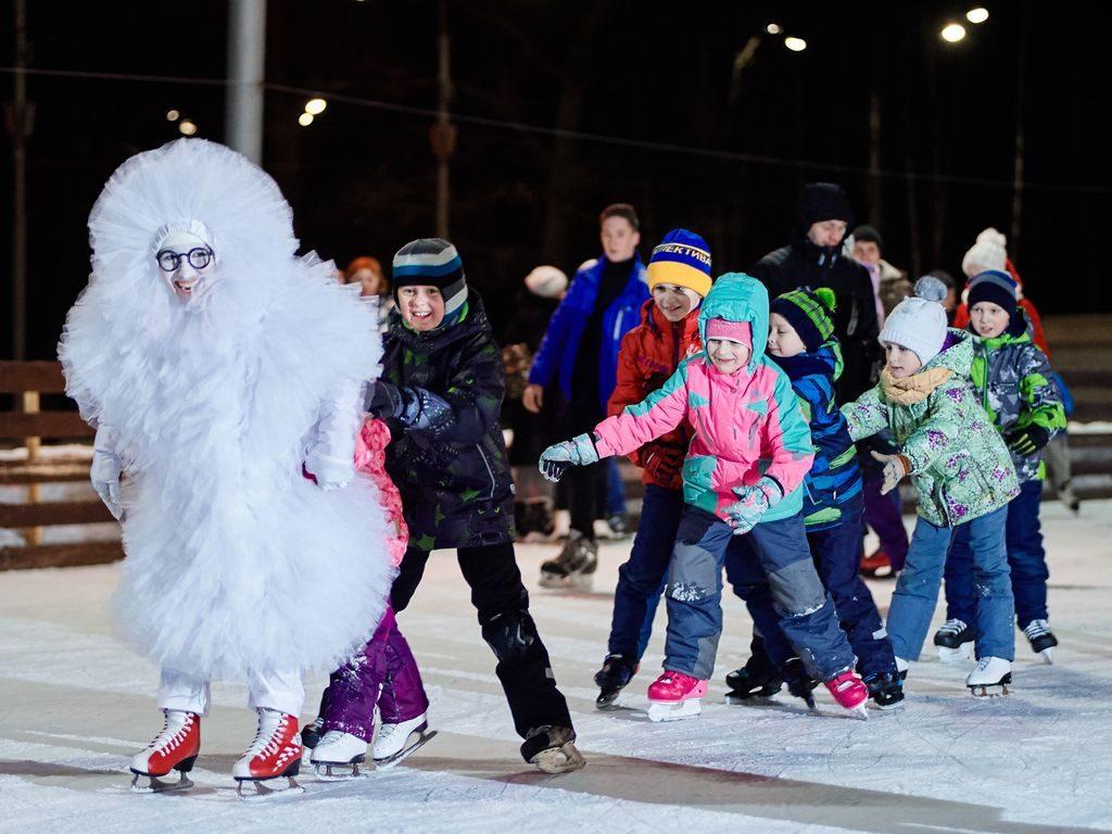 Развлечения в Измайловском парке Зимой