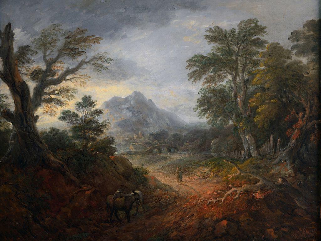 Томас Гейнсборо. Лесной пейзаж с фигурами