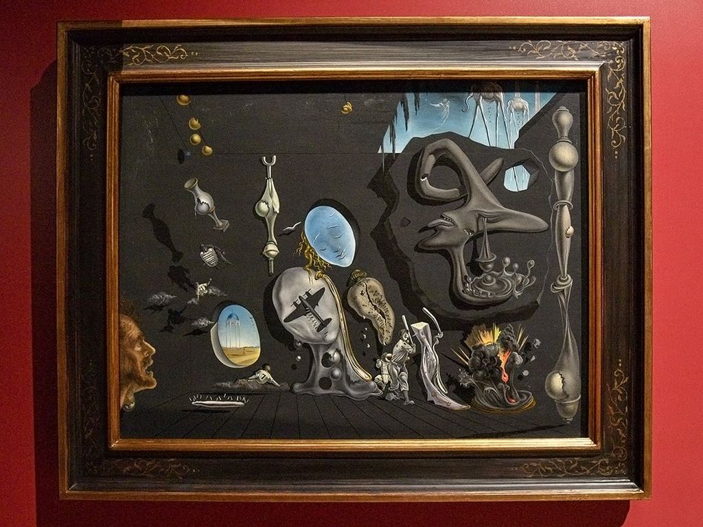 Картина Сальвадора Дали Ураново-атомная меланхолическая идиллия