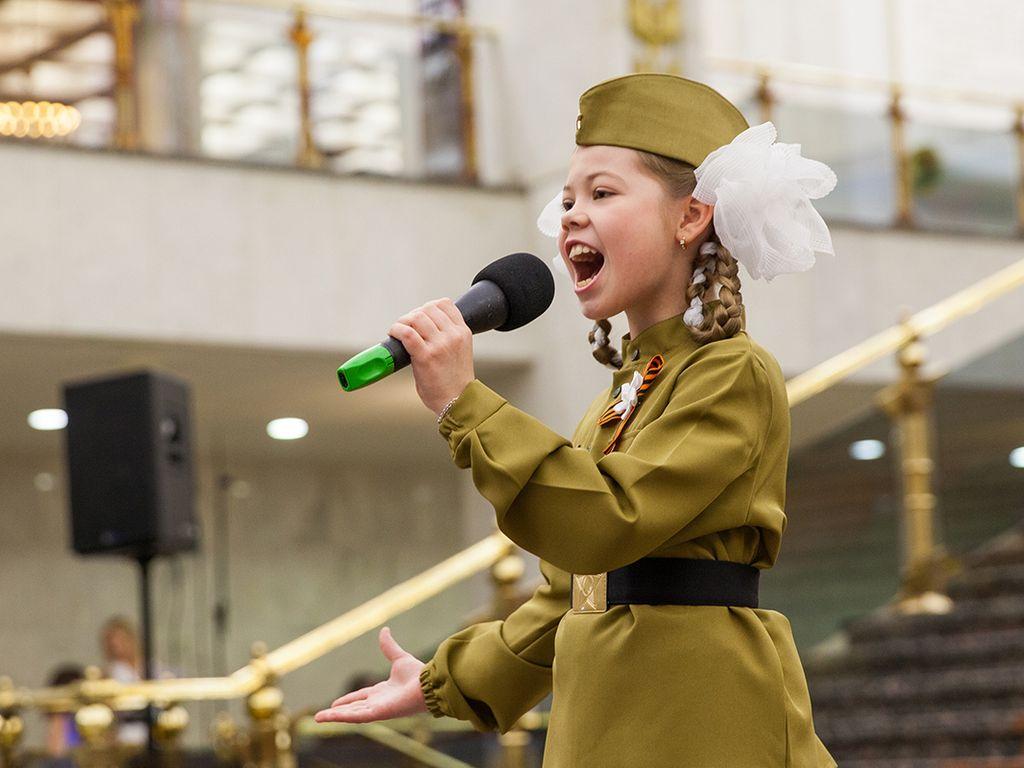 Дети из мастерской голоса Путеводная звезда в Музее Победы