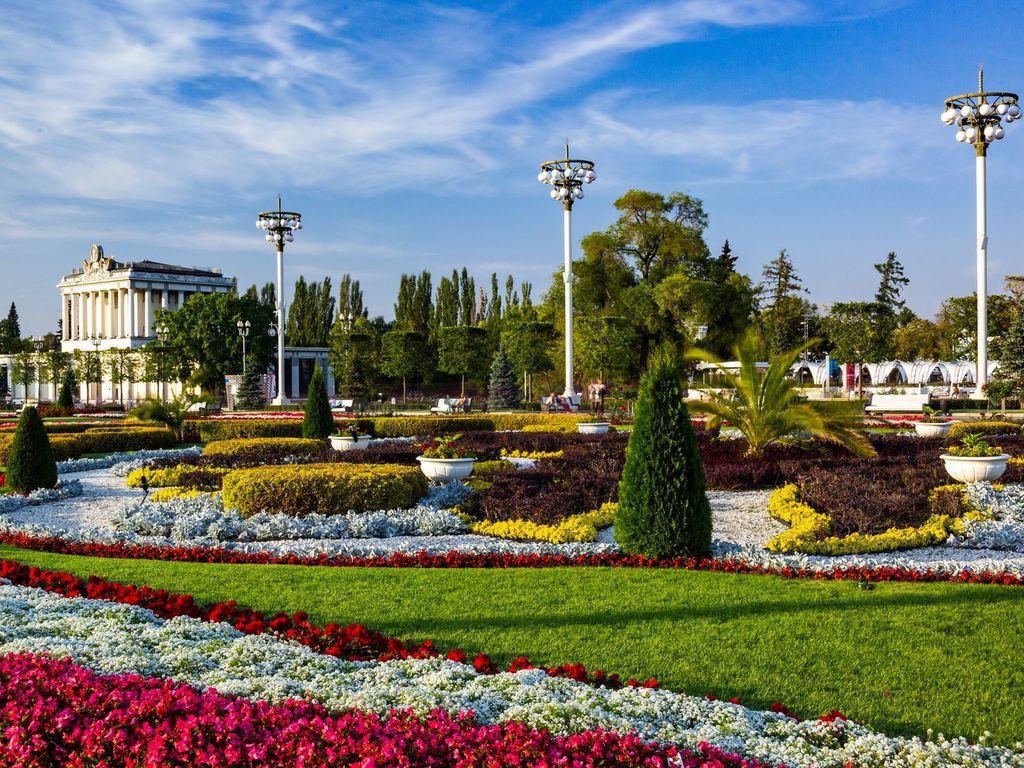 Цветы в парке ВДНХ