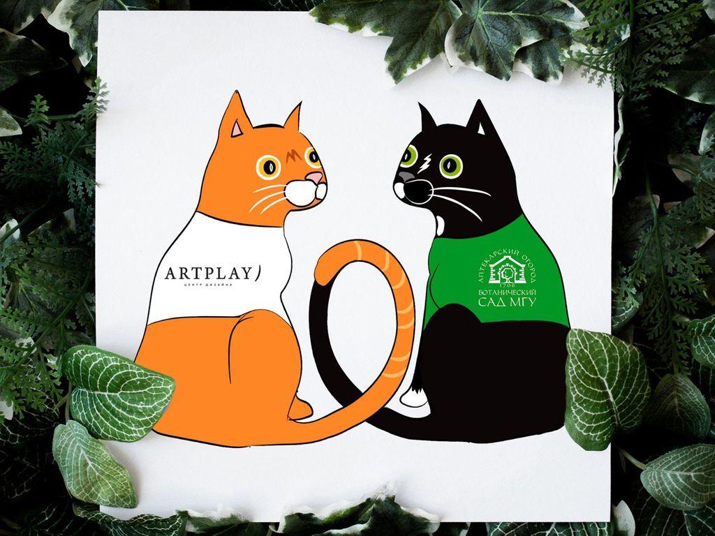 онлайн-флешмоб Весенний кот в Аптекарском огороде