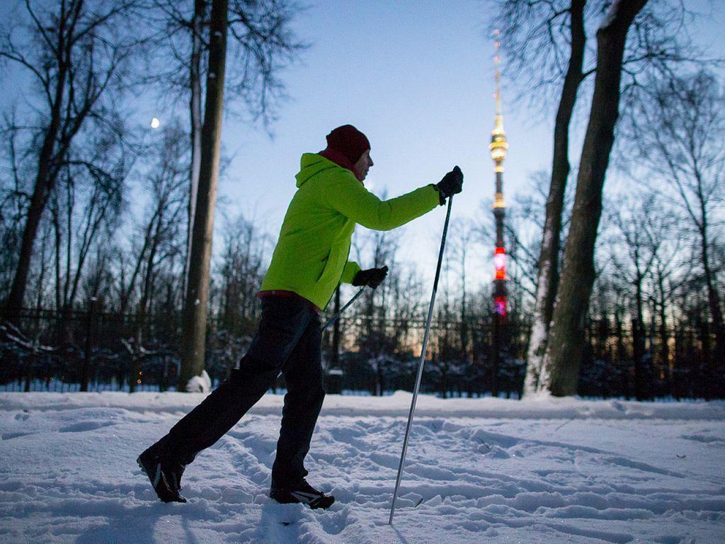 Лыжный спорт в парке Останкино