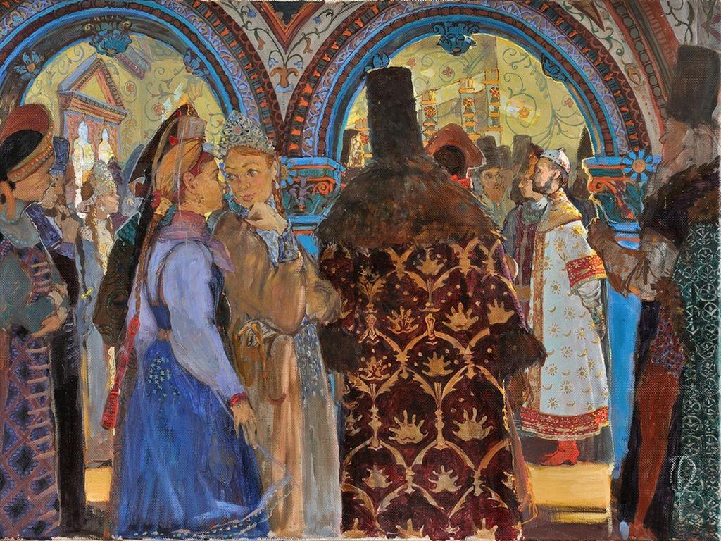 Барханова А.Е. Эскиз композиции Выбор невесты