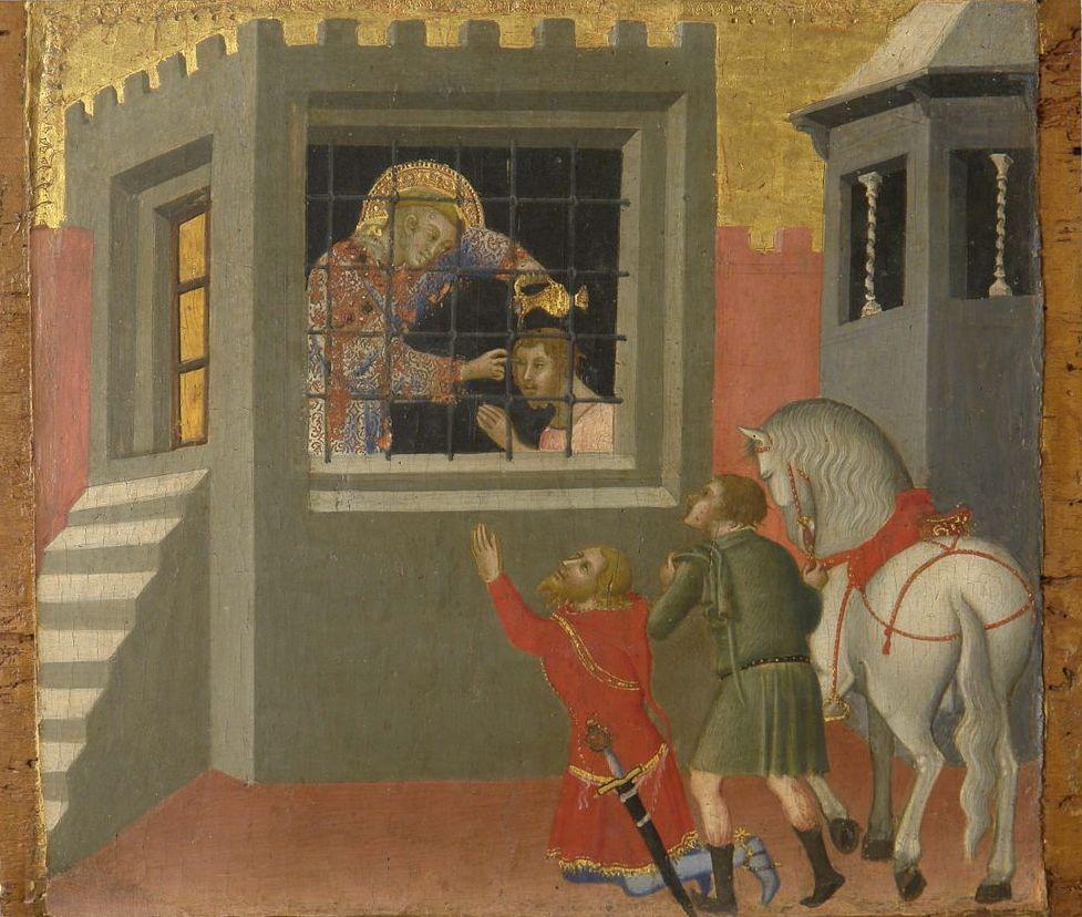 Бартоло Ди Фреди. Святой Лаврентий крестит в темнице узника Луциллия и возвращает ему зрение. Сиена