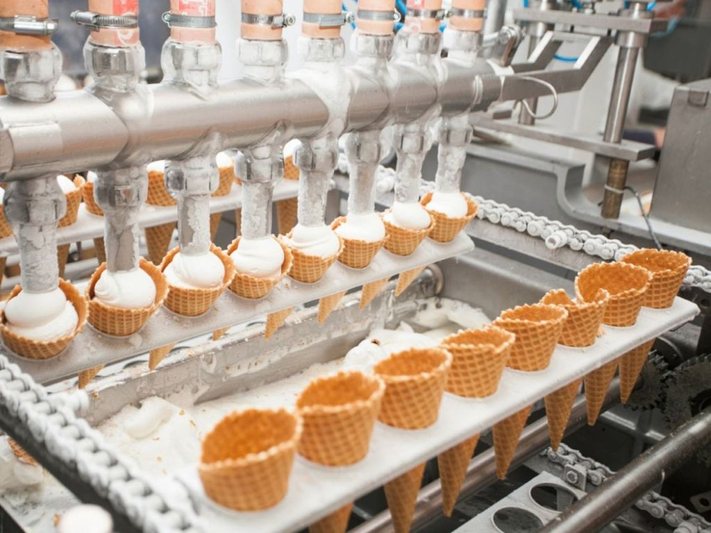 Производство на Фабрике мороженого